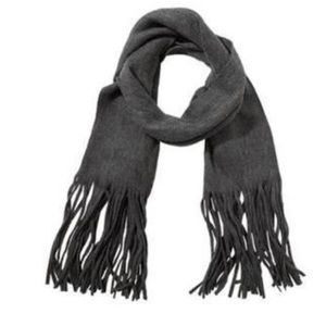 Lucky Brand Solid Brushed Scarf Dark Gray OS